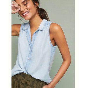 Cloth & Stone sleeveless chambray top